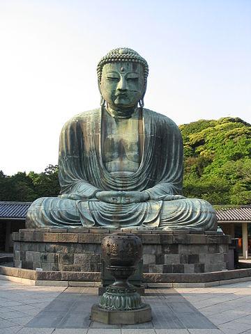 Der große erhabene Buddha Daibutsu in Japan