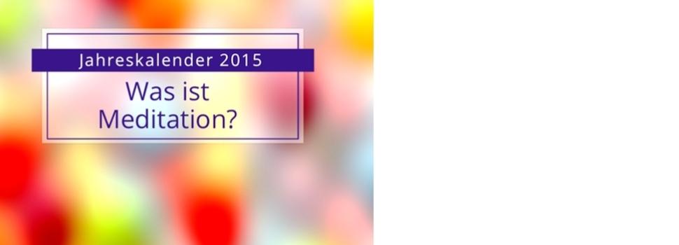 Tischkalender Meditation 2015 Jahreskalender
