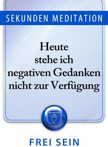 Sekunden Meditation, Meditation des Tages