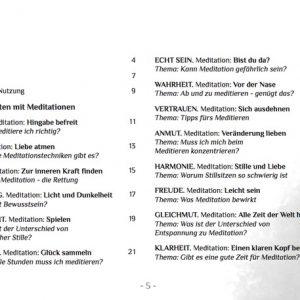 Inhalt des Meditations-Handbuchs Zuhause