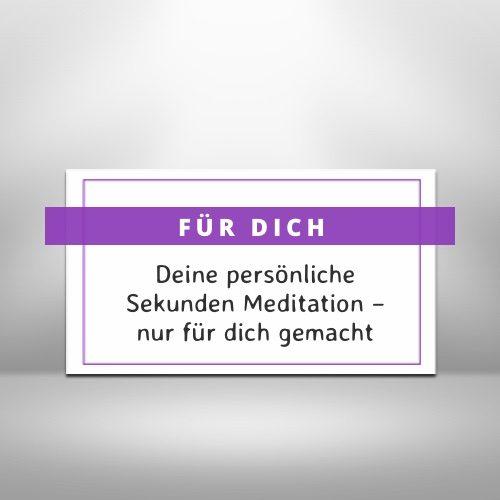 Geschenk für Meditierende: eine individuelle Sekunden Meditation verschenken
