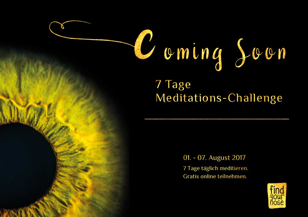 Coming soon 7 Tage Meditation Challenge