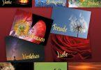 10 Grußkarten Herzenswünsche