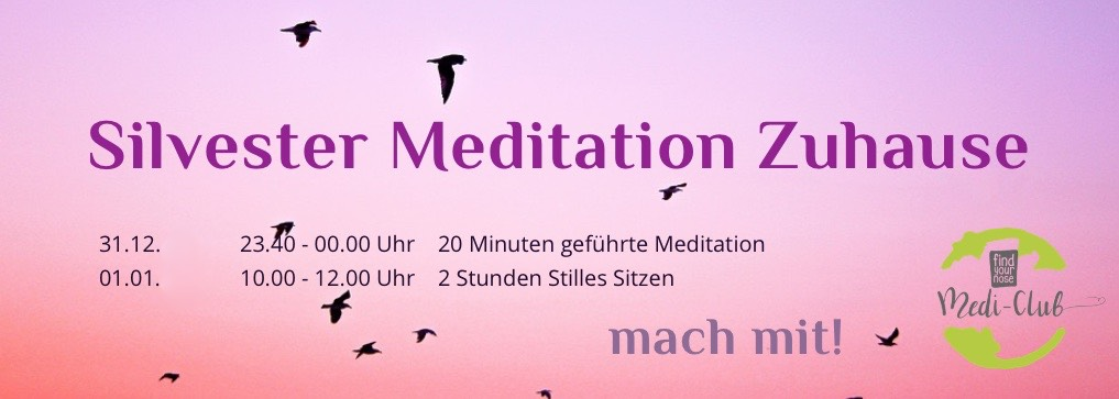 Angeleitete Silvester Meditation Zuhause