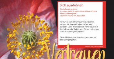 Zuhause meditieren: den Tag in Vertrauen verbringen