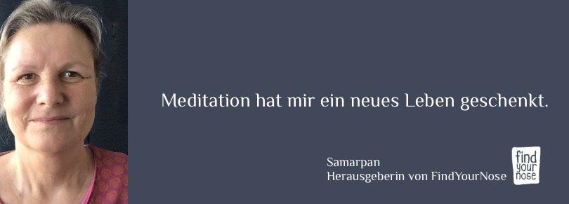 Samarpan P. Powels, Herausgeberin von FindYourNose, Online Magazin für Meditation