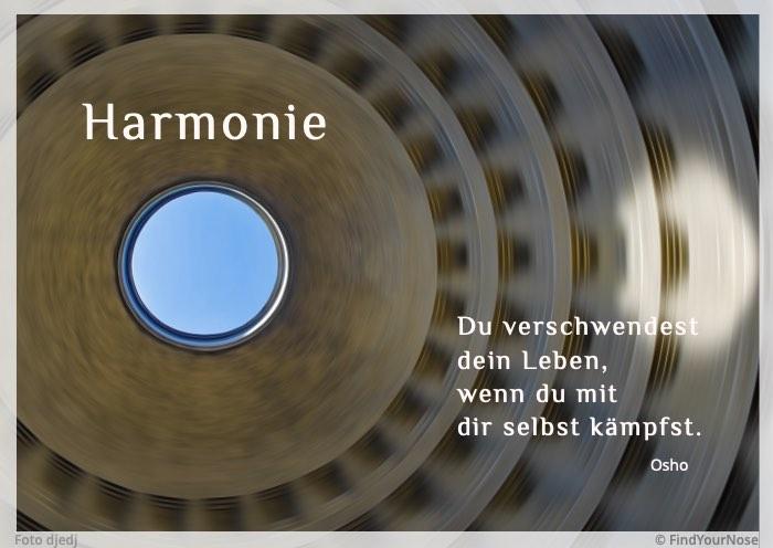 Harmonie: mit sich selbst – ein Osho Zitat