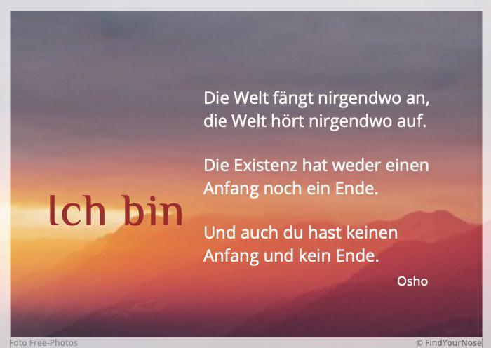 Bildzitat 'Ich bin' – Osho Zitat