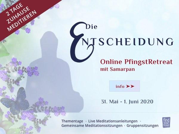 Online PfingstRetreat mit geführten Meditationen