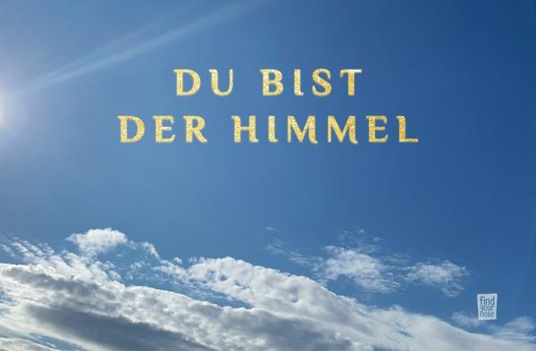 alterslos Meditationskarte 'Du bist der Himmel'