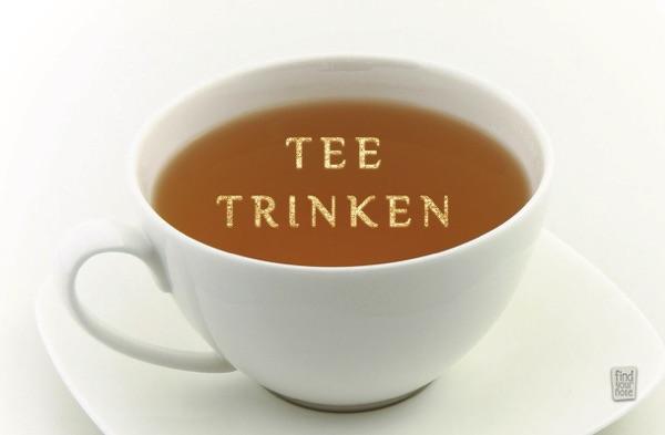 Tee trinken – Glück sammeln – alterslos Meditationskarten