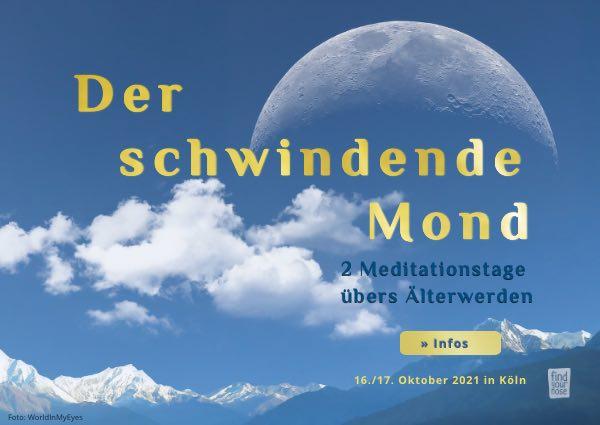 Meditag der schwindende Mond